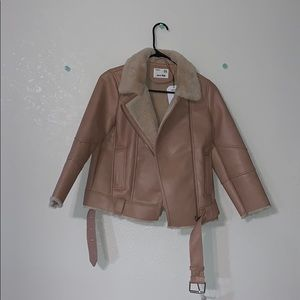 Zara kids leather jacket